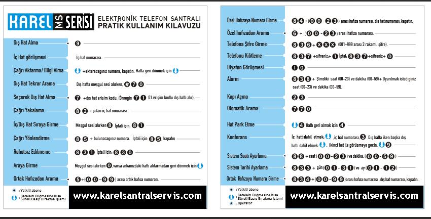 karel santral kullanma klavuzu kitapcigi Karel Santal Kullanma Klavuzu Ve Kitapçık Eğitim Notları