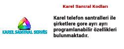 kodlar Karel Santral Servisi Anasayfası